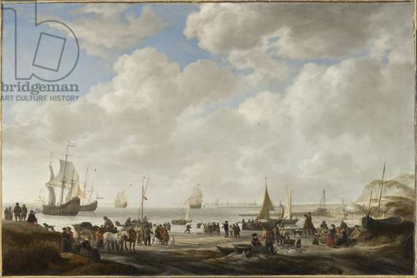 View of a Beach, 1646 (oil on canvas)