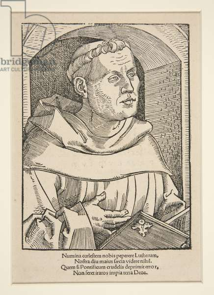 Portrait of Martin Luther (woodcut)