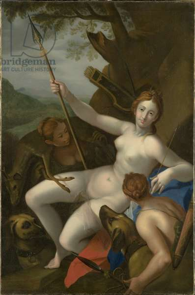 Diana with Nymphs, Dogs and Game (oil on canvas)