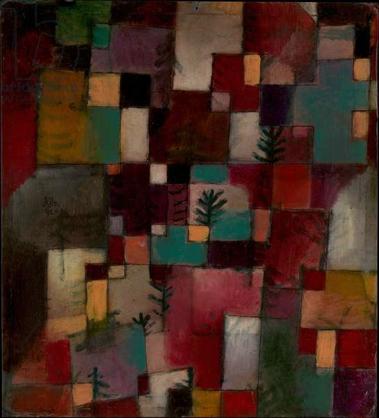 Redgreen and Violet-Yellow Rhythms, 1920 (oil and ink on cardboard)