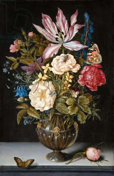 Still-Life with flowers, 1617 (oil on copper)