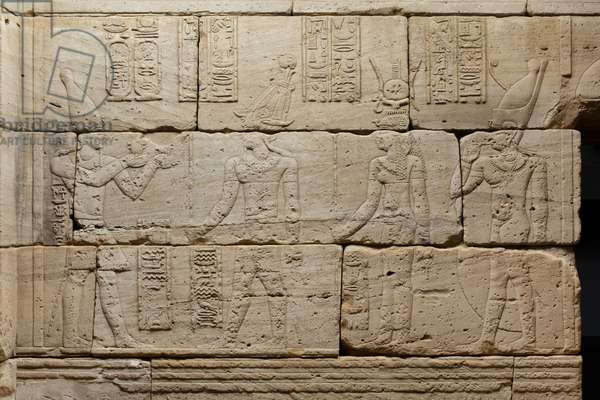Relief from The Temple of Dendur, c.10 BC (aeolian sandstone)