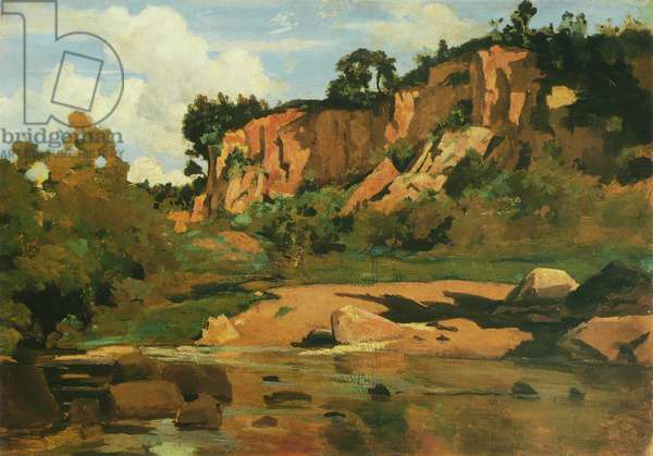 The Red Rocks at Civita Castellana, c.1827 (oil on canvas)