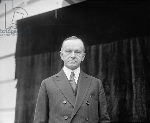 Calvin Coolidge, 1924 (b/w photo)
