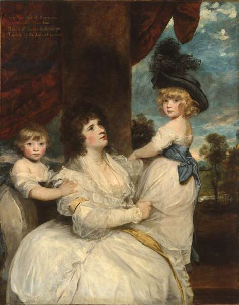 Portrait of Jane, Countess of Harrington, with her Sons, the Viscount Petersham and the Honorable Lincoln Stanhope, 1786-7 (oil on canvas)