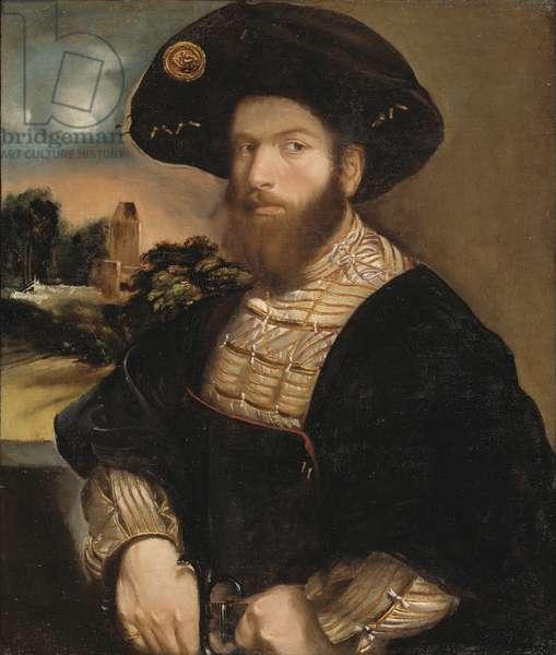 Portrait of a Man Wearing a Black Beret, c.1530 (oil on canvas)
