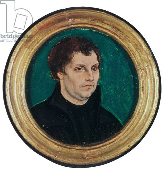 Portrait of Martin Luther, 1525 (mixed media)