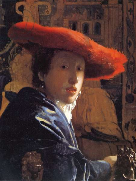 Girl with a Red Hat, c.1665 (oil on panel)