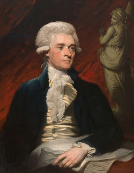 Thomas Jefferson (1743-1826), 1786 (oil on canvas)