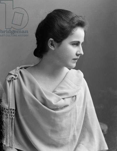 Edith Bolling, c.1890 (b/w photo)