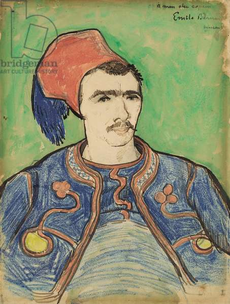 The Zouave, c.1888 (pen, brown ink, wax  crayon and w/c)