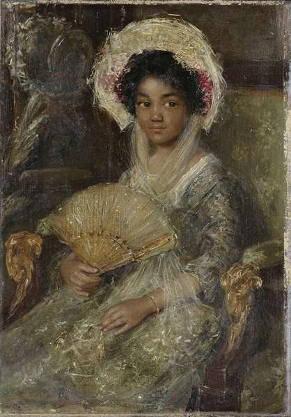 Young Woman with a Fan, c. 1906 (oil on canvas)