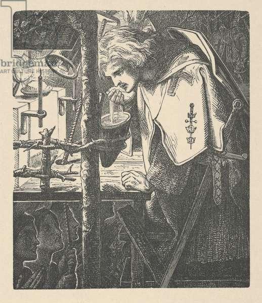 Sir Galahad from Tennyson's Poems, 1903 (wood engraving)