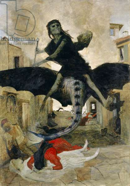 The Plague, 1898 (tempera on panel)