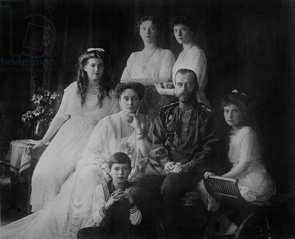 Russian Royal family, 1914 (b/w photo)