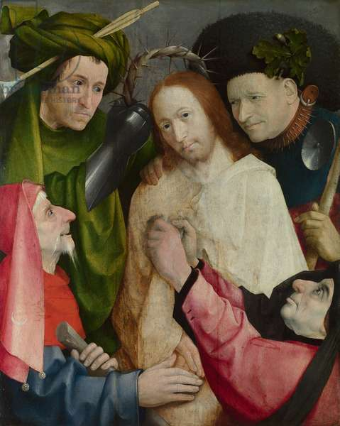Christ Mocked (The Crowning with Thorns) c.1490-1500 (oil on panel)