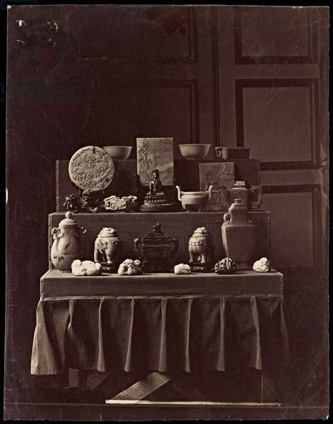 French spoils from the Summer Palaces, Beijing, 1861-63 (albumen print)