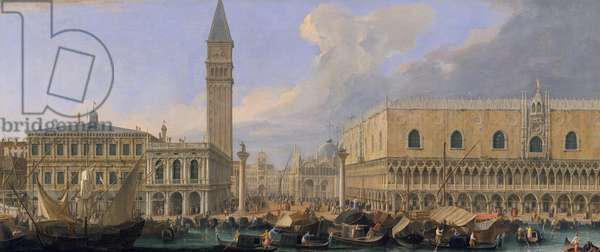 The Molo, Venice, from the Bacino di San Marco, c.1709 (oil on canvas)