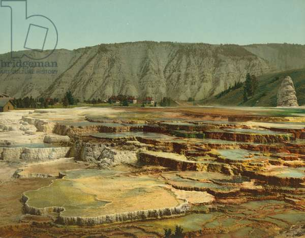 Hymen Terrace, Yellowstone National Park, c.1902 (photochrom)