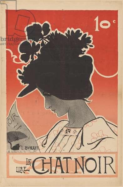 Poster for Le Chat Noir, 1882-99 (colour lithograph)