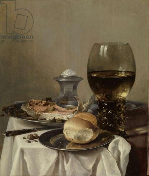 Still Life with a Salt,  c.1640-45 (oil on panel)