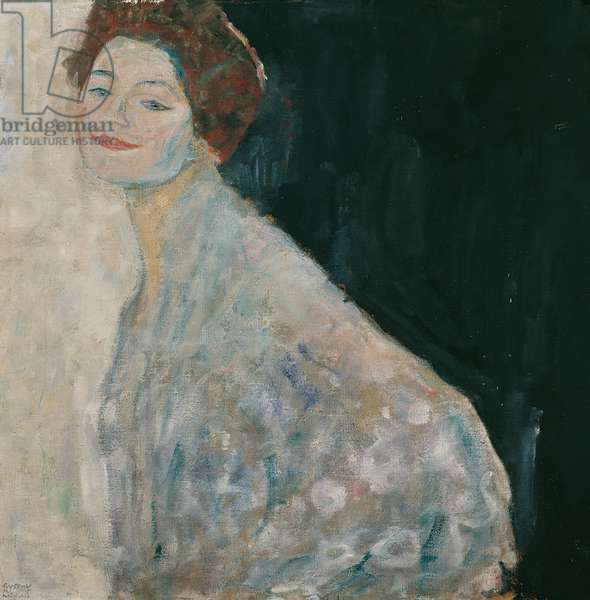 Portrait of a Lady in white, 1917 (oil on canvas)