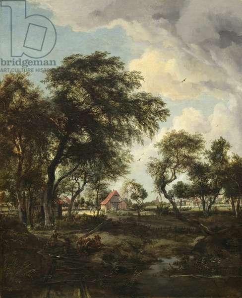 A Farm in the Sunlight, 1668 (oil on canvas)