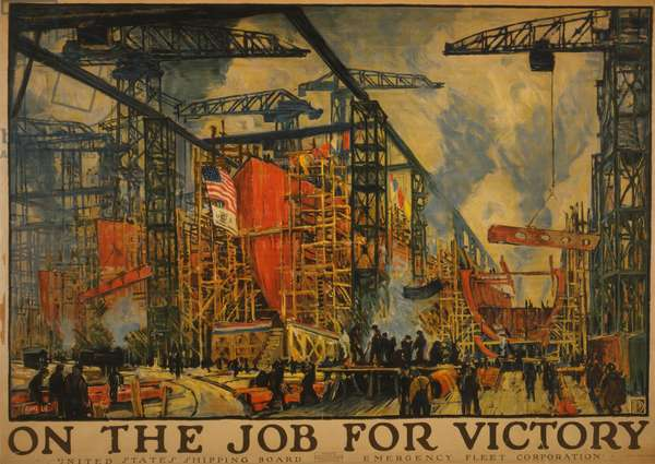 On the job for victory, 1918 (lithograph)