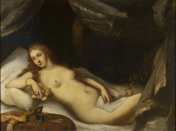 Danaë and the Shower of Gold (oil on canvas)