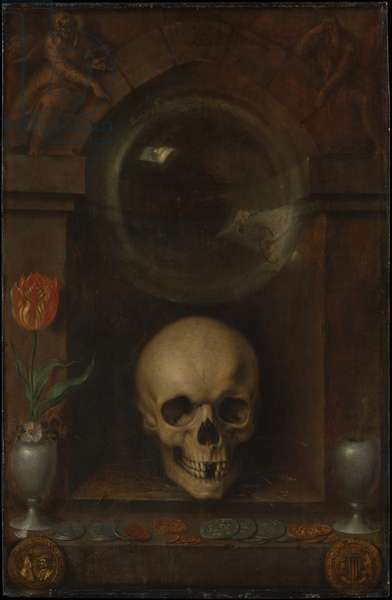 Vanitas still life, 1603 (oil on wood)