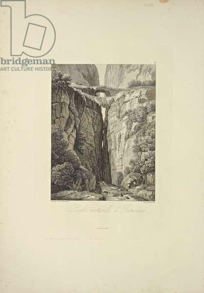 Natural Bridges of Icononzo, illustration from 'Vues des Cordillères et Monumens des Peuples Indigènes de l'Amérique' by Alexander von Humboldt and Aime Bonpland, 1813 (engraving)
