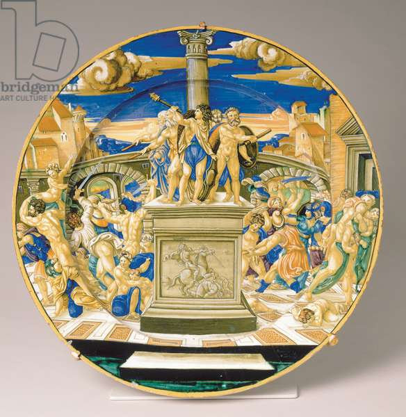 Plate with the Massacre of the Innocents, c.1527-30 (maiolica)