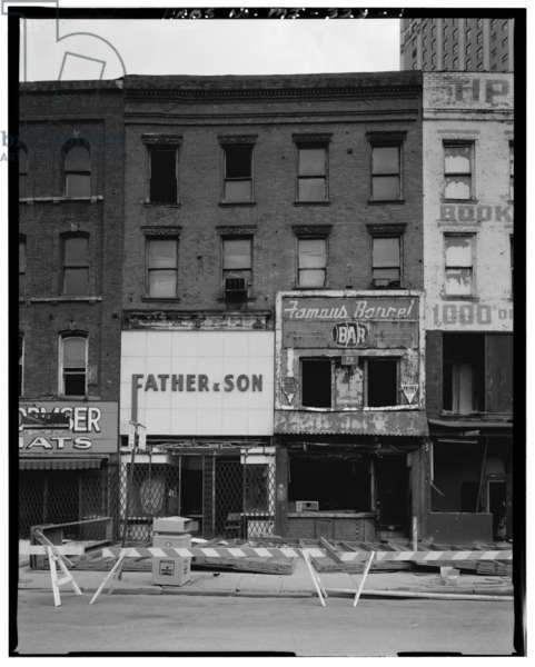 70-72 Monroe Avenue (Commercial Building), Detroit, Michigan (b/w photo)
