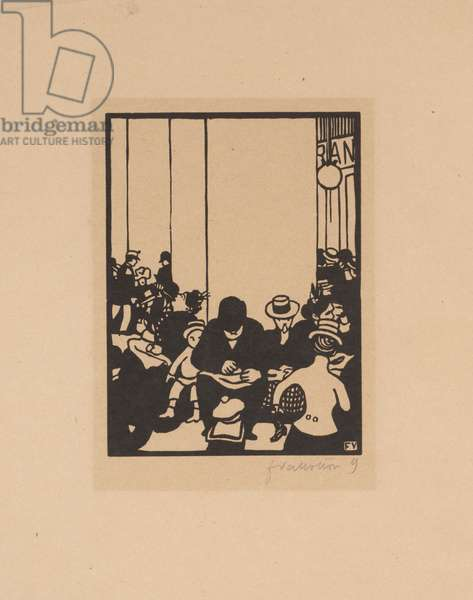 Five O'Clock, The World's Fair IV, 1901 (woodcut on tinted Japan paper)