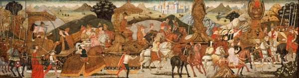 The Triumph of Alexander, c.1485 (temepra and gilding on panel)