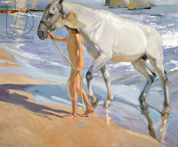 Washing the Horse, 1909 (oil on canvas)