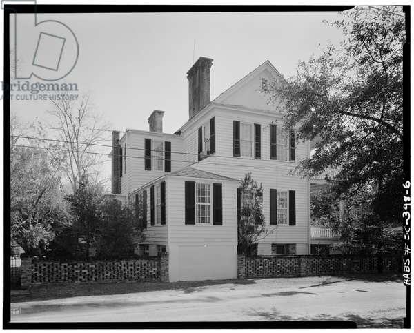 McKee-Smalls House, 511 Prince Street, Beaufort, Beaufort County, SC (b/w photo)