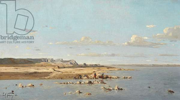 Washerwomen on the Banks of the Durance, 1866 (oil on canvas)