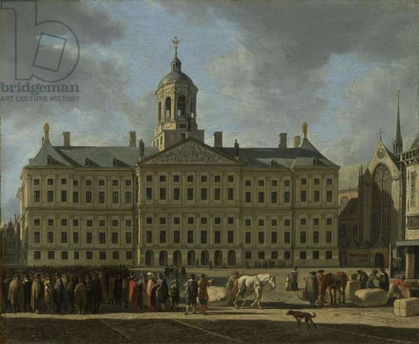 The Town Hall on Dam Square, Amsterdam, 1672 (oil on canvas)
