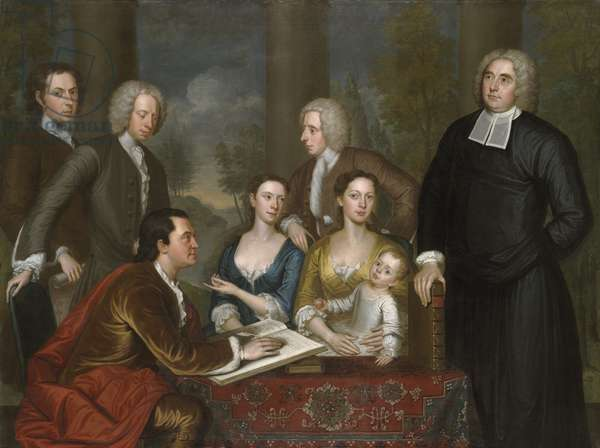 The Bermuda Group, Dean Berkeley and his Entourage, 1728, reworked 1739 (oil on canvas)
