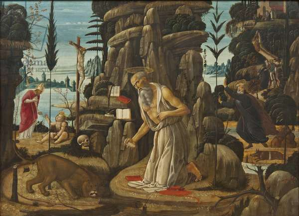 The Penitent St Jerome (oil on panel)