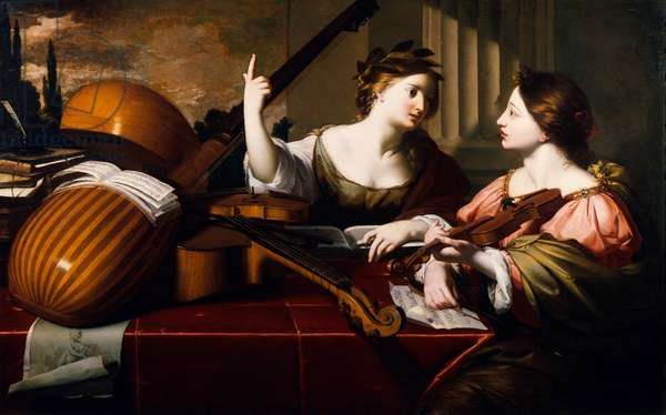 Divine Inspiration of Music, c.1640 (oil on canvas)