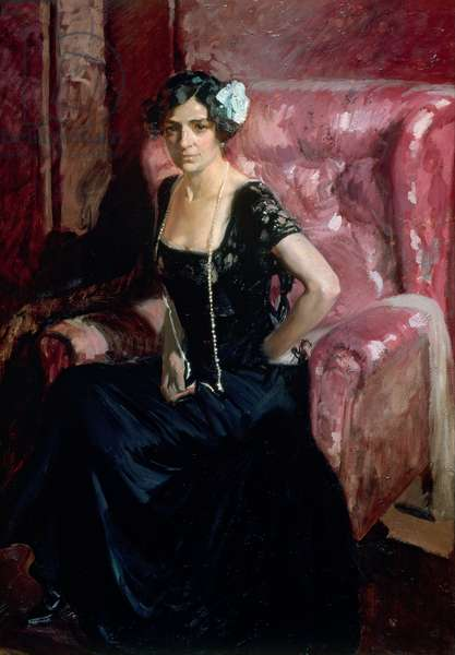 Clotilde in an Evening Dress, 1910 (oil on canvas)