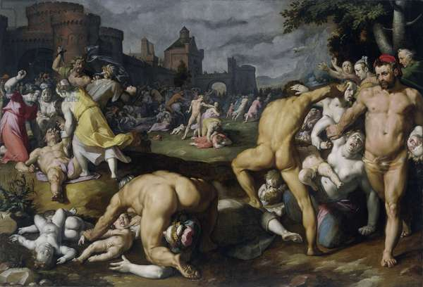 The Massacre of the Innocents, 1590 (oil on canvas)