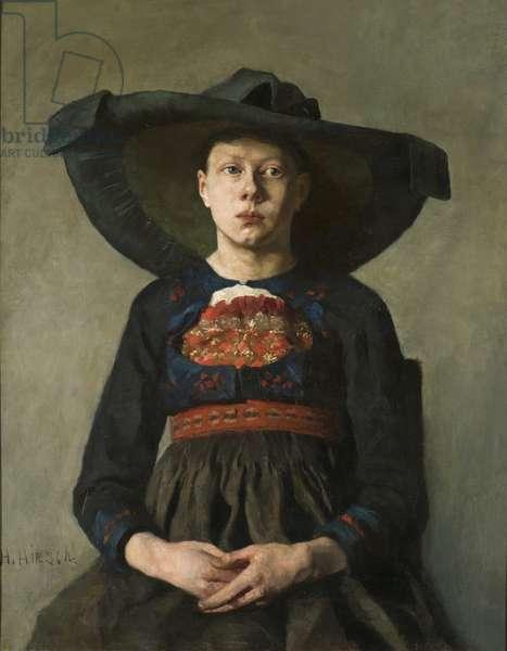 A Bavarian Peasant Girl, 1885-87 (oil on canvas)