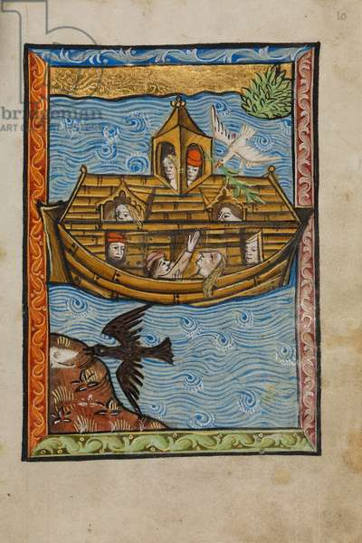 Noah's Ark, 1480-90 (tempera and gold leaf on parchment)