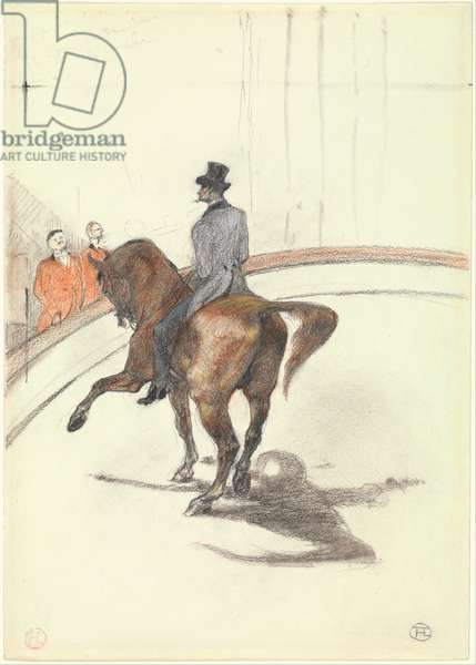 At the Circus: The Spanish Walk, 1899 (graphite, coloured pastel and charcoal on heavy wove paper)