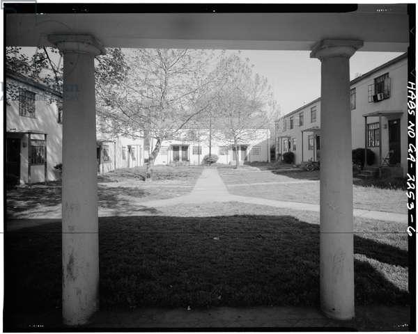 John Hope Homes (Public Housing), Bounded by Larkin, Dora, Spelman Streets & Lane, Atlanta, Fulton County, GA (b/w photo)