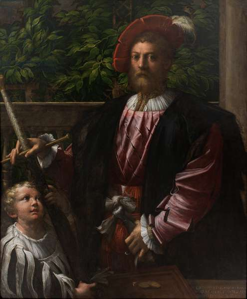 Portrait of Lorenzo Cybo, 1523 (oil on panel)