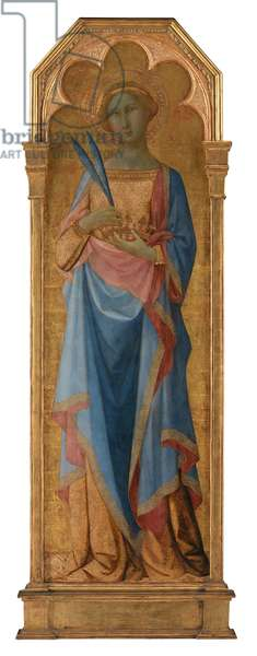 St. Corona, c.1350 (tempera on panel, gold ground)   155 x 48
